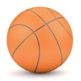 在白色隔绝的简单的橙色篮球 免版税库存图片