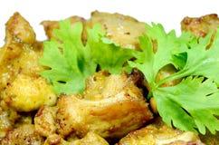 Τηγανισμένα πλευρά χοιρινού κρέατος. Στοκ εικόνα με δικαίωμα ελεύθερης χρήσης