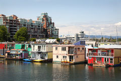 居住船公共维多利亚,不列颠哥伦比亚省 库存图片