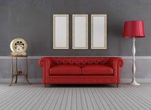Винтажная живущая комната Стоковая Фотография