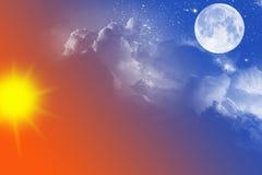 Днем и ночью Стоковое фото RF
