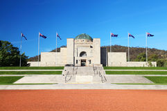 澳大利亚战争纪念建筑在堪培拉 库存照片