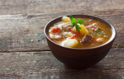 Σούπα κρέατος Στοκ Φωτογραφίες