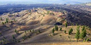五颜六色的被绘的沙丘 库存照片