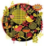 鸟、花和其他自然。 免版税库存图片