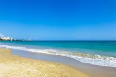 美丽的海滩在圣胡安 免版税库存照片