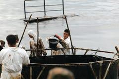 Ταϊλάνδη-περιβάλλον-λάδι-ΡΥΠΑΝΣΗ Στοκ Φωτογραφίες