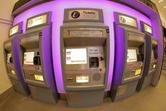 Μηχανή εισιτηρίων τραίνων Στοκ Φωτογραφία