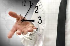 Принципиальная схема контроля времени Стоковые Изображения RF
