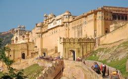 Янтарный форт в Джайпуре, Индии Стоковая Фотография RF