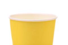 顶面五颜六色的纸咖啡杯。 免版税库存图片
