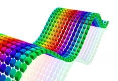 与反射的多颜色立方体波浪 免版税库存照片