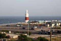 灯塔在直布罗陀 库存照片