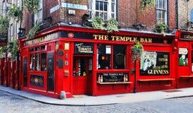 寺庙酒吧在都伯林,爱尔兰 免版税图库摄影