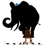 Вспугнутый слон Стоковое Изображение