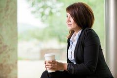 享受我的咖啡休息 免版税库存照片