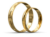 Кольца золота (включенный путь клиппирования) Стоковая Фотография