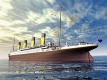 Океанский лайнер Стоковая Фотография RF
