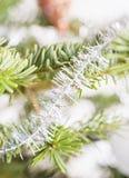 圣诞树装饰特写镜头  免版税库存图片