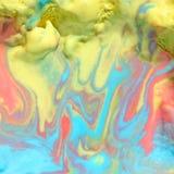 Λειωμένο τετράγωνο υποβάθρου παγωτού ουράνιων τόξων Στοκ εικόνα με δικαίωμα ελεύθερης χρήσης
