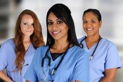 小组护士 免版税库存照片