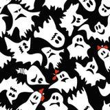 白色鬼魂的无缝的样式 库存照片