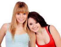 两个青少年的姐妹 库存照片