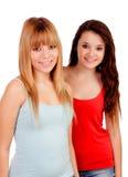 两个青少年的姐妹 免版税库存图片