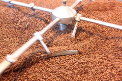 Ψημένα αερισμός φασόλια καφέ Στοκ φωτογραφία με δικαίωμα ελεύθερης χρήσης