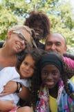 种族家庭 免版税库存图片