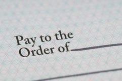 薪金支票 库存照片