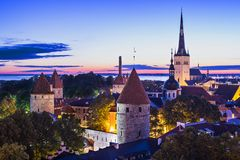 Ορίζοντας του Ταλίν Εσθονία Στοκ εικόνα με δικαίωμα ελεύθερης χρήσης