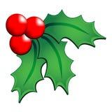 圣诞节霍莉装饰品 免版税库存照片