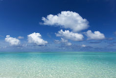 绿松石海和天空天际 免版税图库摄影