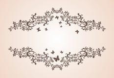 Винтажный орнамент с флористическими элементами Стоковые Изображения RF
