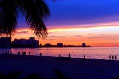圣胡安波多黎各日落 库存照片