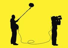 视频的专业人员 免版税库存图片