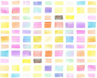 五颜六色的水彩手画横幅,刷子冲程 库存图片