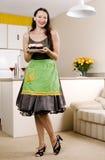 杯形蛋糕微笑 库存图片