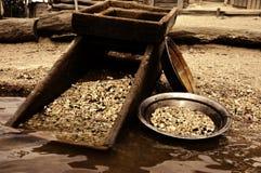 трасучка ковша для промывки золота Стоковые Фотографии RF