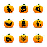 Значки фонарика хеллоуина Стоковое Изображение RF