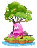 一个被毒害的妖怪在海岛 免版税库存照片