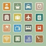 旅馆和旅行象集合 免版税图库摄影