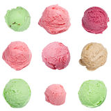 被设置的冰淇凌瓢 库存照片