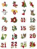 Αριθμοί Χριστουγέννων Στοκ Φωτογραφία