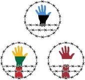 波儿地克国家的职业的标志 库存图片