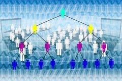 人的网络营销。 免版税库存照片