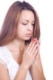 青少年的祷告 免版税库存图片