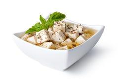 希腊白软干酪 库存照片