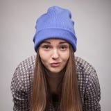 年轻恼怒的女孩 图库摄影